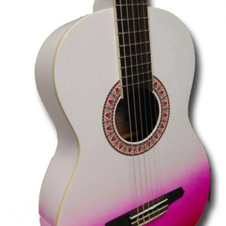 Gypsy Rose Pink Burst Guitarra clásica