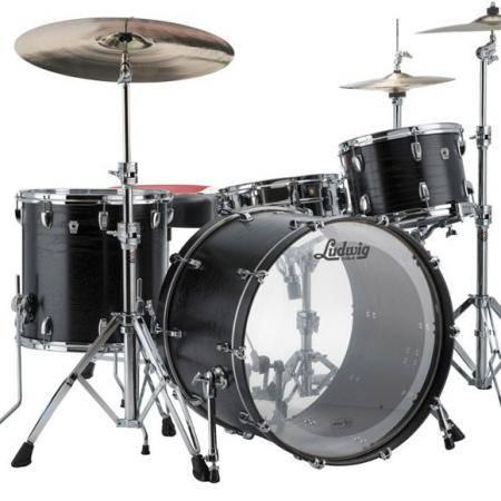 Ludwig Keystone x Pro Beat L7043AX Black Oak Batería acústica