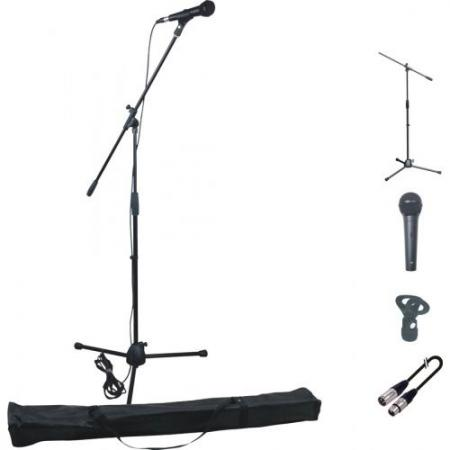 Pack Microfono Dinamico + Stand + Pinza + Cable XLR, MICSTAND-PACK-MH