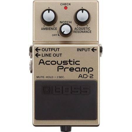 Boss AD2 Pedal Preamp para guitarra acústica