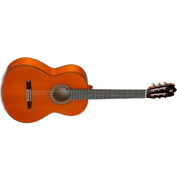 Alhambra 4F guitarra flamenca anaranjada
