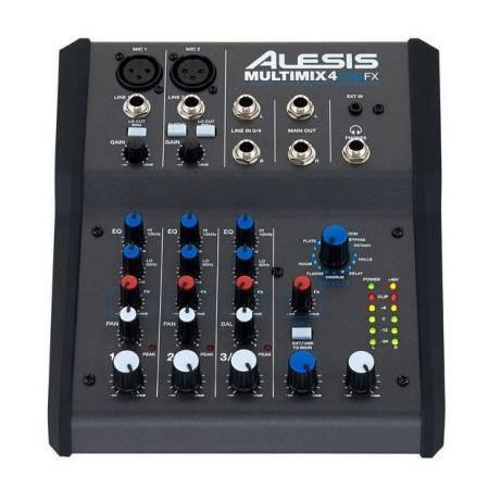 ALESIS Mezcladora de 4 Canales MM4USBFX con Efectos Interface Integrada