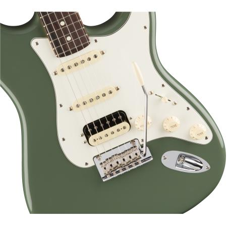 Fender American Pro Stratocaster® HSS Shawbucker, RW, Antique Olive Guitarra eléctrica