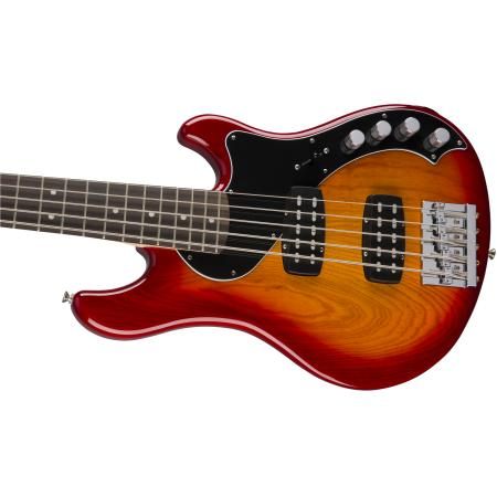 Fender Deluxe Dimension™ Bass V, Rosewood Fingerboard, Aged Cherry Burst, Bajo eléctrico