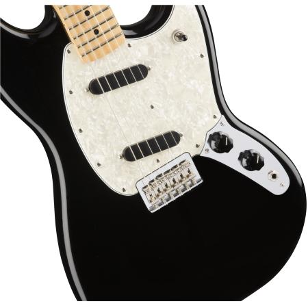 Fender Mustang, Maple Fingerboard, BK, Guitarra eléctrica