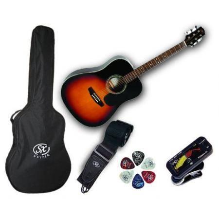 SX SA1 SK VS Pack Guitarra acústica