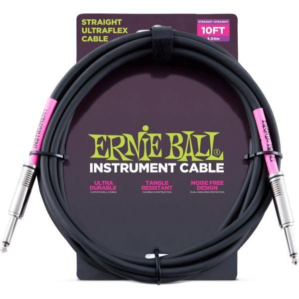 "Ernie Ball Ultraflex BK 10"" Cable instrumento"