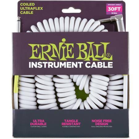 ERNIE BALL CABLE ULTRAFLEX SPIRAL 7.6 JK-JK SS WH