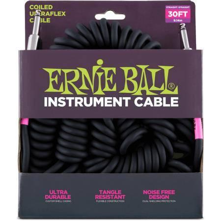 ERNIE BALL CABLE ULTRAFLEX SPIRAL 7,6M JK-JK SS BK