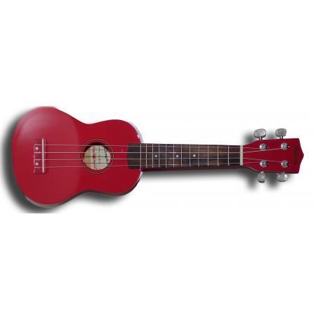 Memphis KUBWR Ukelele Soprano rojo