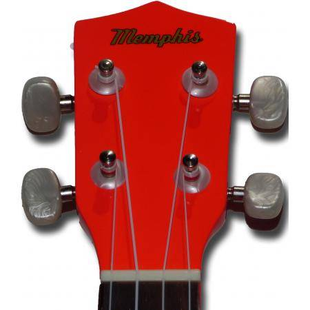 Memphis KUBWLR Ukelele Soprano Rojo fluorescente
