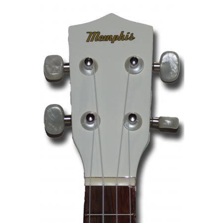 Memphis KUW Ukelele Soprano blanco
