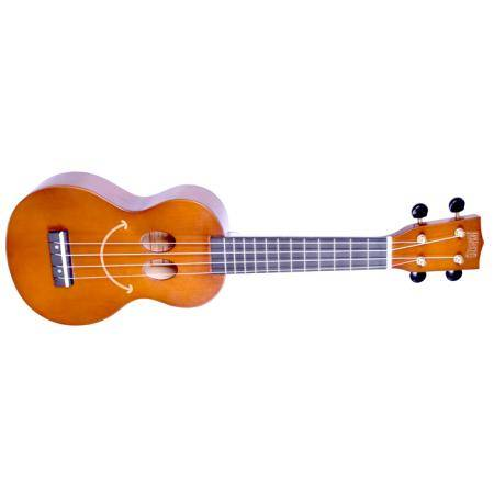 MAHALO SMILE TBR SMILEY FACE TRANSP BROWN UKELELE