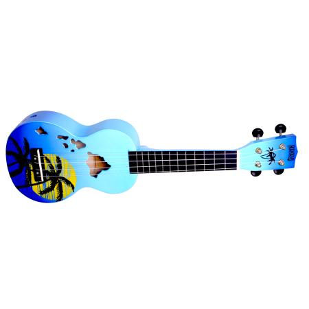 Mahalo MD1HABUB Ukulele Designer Series Hawaii Blue Burst