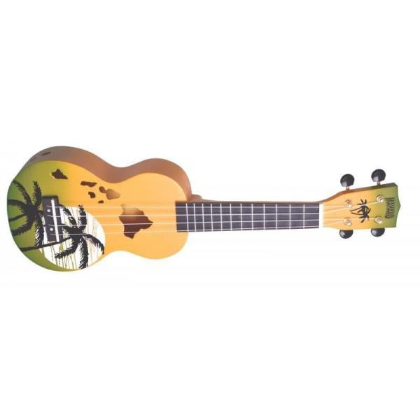 Mahalo MD1HAGNB Ukulele Designer Series Hawaii Green Blue