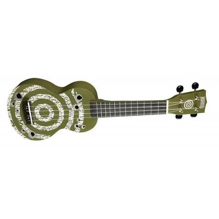 Mahalo MD1TAAGN Ukulele Designer Series Target Army Green