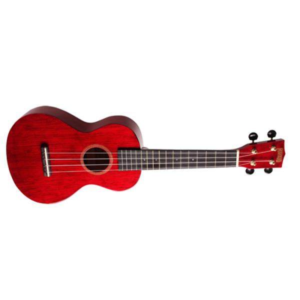 UKELELE MAHALO CONCERT TRANSPARENT WINE RED