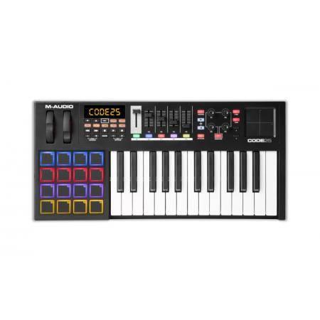M AUDIO CODE 25 TECLADO CONTROLADOR USB MIDI Black