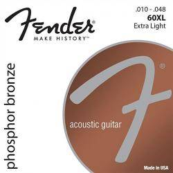 Fender Cuerdas guitarra 60XL PHOS BRNZ BALL 10-48