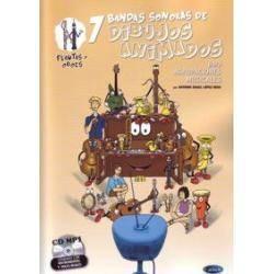 FLAUTA/OBOE 7 BANDAS SONORAS DE DIBUJOS ANIMADOS P
