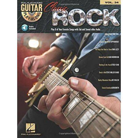 CLASSIC ROCK GUITAR PLAYALONG VOL34 TAB + CD VARIO