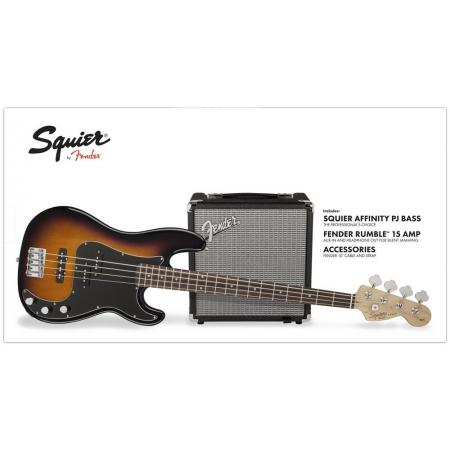 SQUIER PACK PRECISION JAZZ BASS R15V3 BSB 230V EU