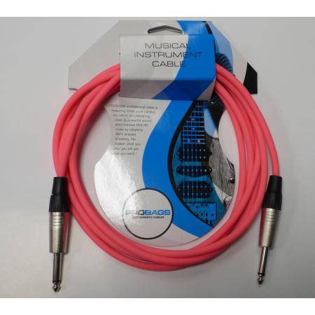 PROBAGS CABLE INSTRUMENTO 3M JACK MONO ROSE NEON