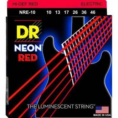 DR Cuedas Guitarra Eléctrica NRE10 NEON RED