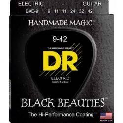 DR Cuerdas Guitarra Eléctrica BKE9 BLACK 9-42