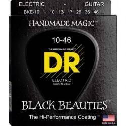 DR Cuerdas Guitarra Eléctrica BKE10 BLACK 10-46