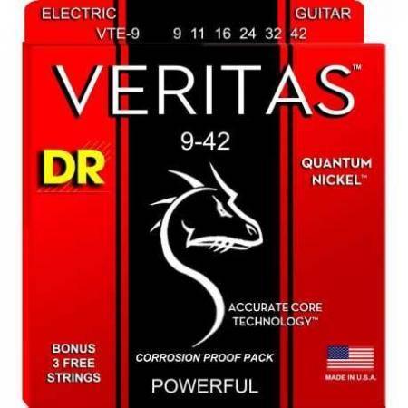 DR Cuerdas Guitarra Eléctrica VTE9 VERITAS 9-42