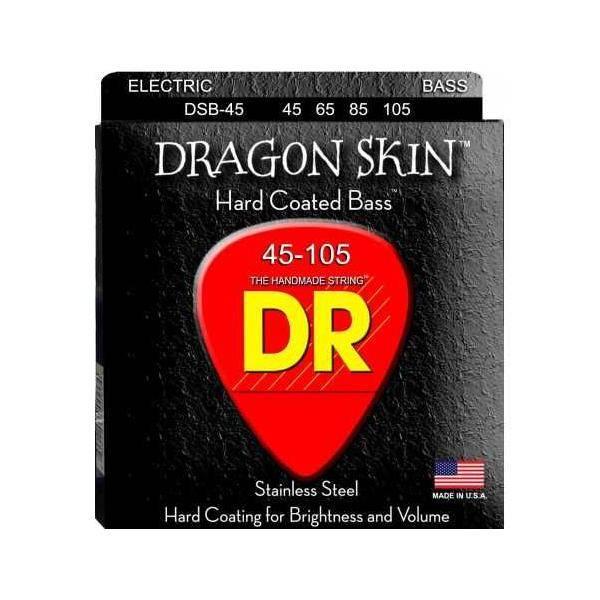 DR Cuerdas Bajo Dragon Skin 45-105