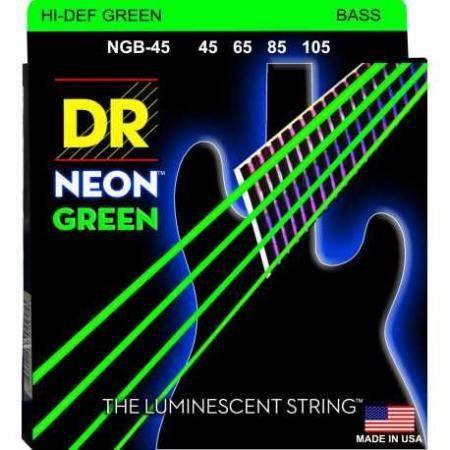 DR Bajo 4 cuerdas NEON Green 45-105