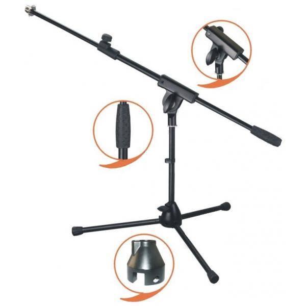 Pie Jirafa Micro corto EK audio profesional negro MS010