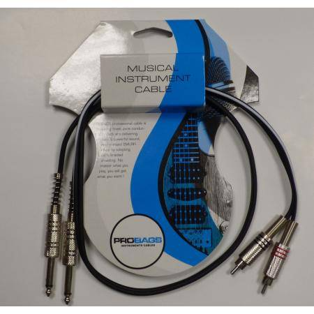 PROBAG CABLE AUDIO TRC1053FTS JACK MONO RCA MACHO
