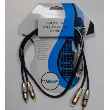 PROBAG CABLE DE AUDIO RCA DOBLE 1M