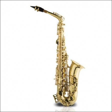 Saxofno Alto Mi B Laqueado Con Estuche Ashton