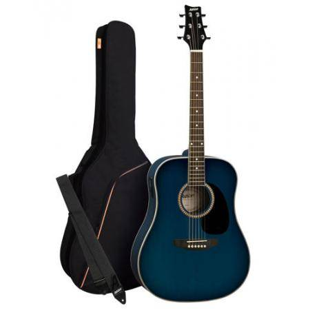 Pack Guitarra Acustica Dreadnought Azul Ashton MODELO ANTIGUO OFERTA