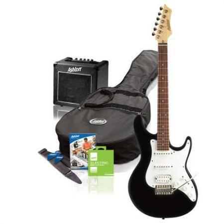 Pack Guitarra Electrica Negro