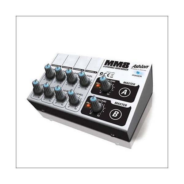 Mezclador Minimixer MM8 8 Canales Ashton