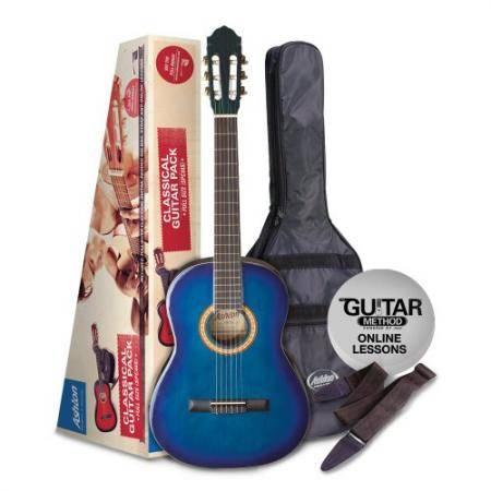 Pack Guitarra Clasica 1 2 Azul Oferta
