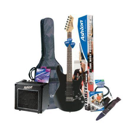 Pack De Guitarra Electrica Sin Golpeador Negro