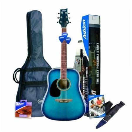 SPD25LTBB Pack Guitarra Acustica Azul Burst Zurda Ashton