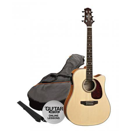 SPD25CEQNT Pack Guitarra Electroacustica Dreadnought Natural Ashton