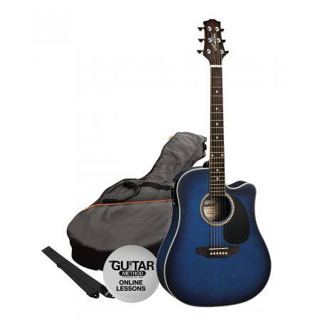 SPD25CEQTBB Pack Guitarra Electroacustica Dreadnought Azul Ashton