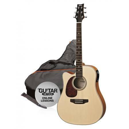 SPD25CEQLNTM Pack Guitarra Electroacustica Natural Mate Zurdo Spd25Ceql Ntm Ashton