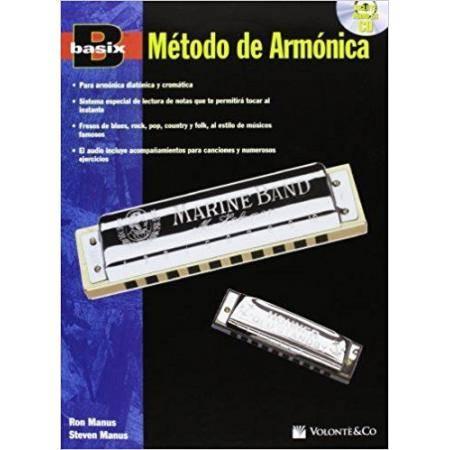 MÉTODO DE ARMÓNICA BASIX + CD MANUS VOLONTE (CROMÁ