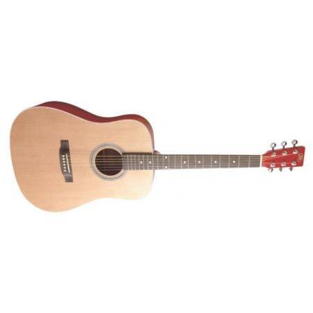 SX Guitarra acústica SD204TRD Trans Red