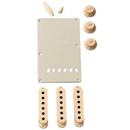 Fender Stratocaster Kit Accesorios Blanco Vintage