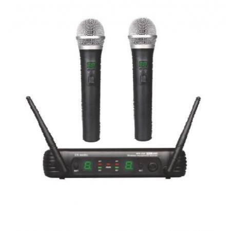 Dos Micrfonos Inalmbricos de mano EK audio Sistema WR 25 UHF
